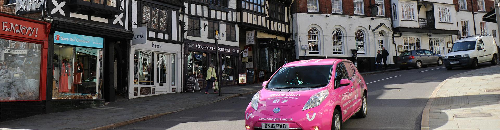 Care Plus car in Shropshire